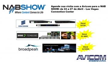 A Avicom estará presente na FEIRA NAB SHOW 2017 em Las Vegas .
