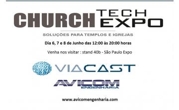 Avicom estará com a Viacast na feira Church Expo 2017